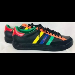 Original Retro Adidas Nastase Rasta Black Leather